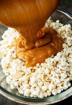 bourbon caramel popcorn recipe | use real butter