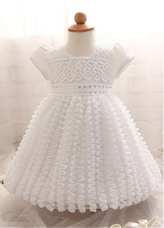 Cheap christening gowns, Buy Quality dress infant directly from China baby girl dress Suppliers: 2016 baby girls dresses white ceremonies party dresses infant kids children clothing party wedding costumes christening gown Girls Party Dress, Little Girl Dresses, Girls Dresses, Flower Girl Dresses, Girl Skirts, Party Dresses, Wedding Dresses, Dress Girl, Party Outfits