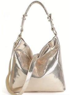 Arliwwi Purse Cotton Hobos Zipper Cow Leather Bag Shoulder Purse Handbag