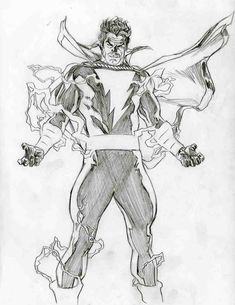Alex Ross-Unused Shazam proposal #3 Comic Art