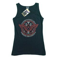 Black Wonder Woman Batman vs Superman Logo Vest Tank Top