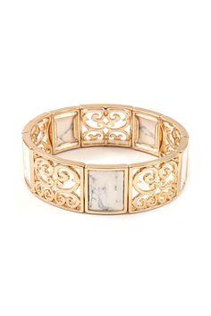 Ella Filigree Bracelet in Ivory on Emma Stine Limited