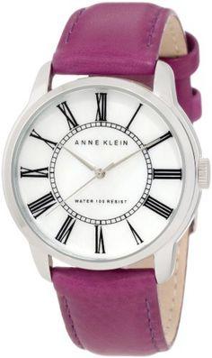 Anne Klein Women's 10/9905MPPR Leather Silver-Tone Purple Leather Strap Watch Anne Klein, http://www.amazon.com/dp/B0073R5N9G/ref=cm_sw_r_pi_dp_OKberb03KPEAB