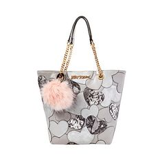 SWEET HEARTS NORTH SOUTH TOTE: Betsey Johnson