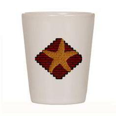 Starfish Shot Glass> Lisa Williams Art