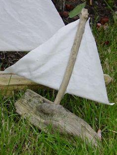 Holy Craft: driftwood sailboat