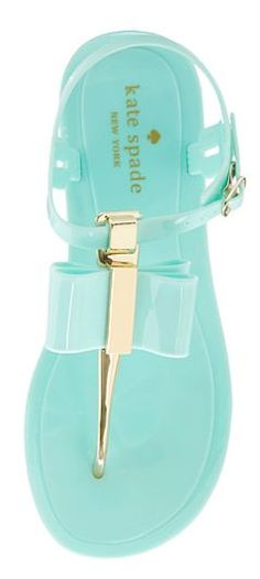 green mint & gold Kate Spade sandals