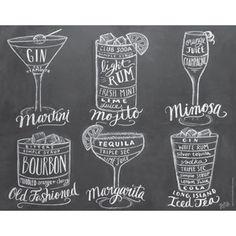 Plakát Lily & Val Cocktail