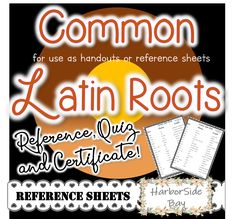 This download is great for Latin Root Words topic. You can download it now and use it on ANY device to discuss and have Latin Roots, meaning and examples. It may also be used in group centers, or laminated to place inside binders/ folders or on bulletin boards.