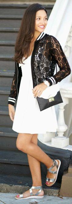 Lace Jacket Sporty Style