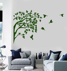 Vinyl Wall Decal Decor Sticker Nature Tree Birds Earth Peace Garden Decor (669ig)