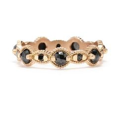 Megan Thorne Rose-Cut Black Diamond Band in Rose Gold