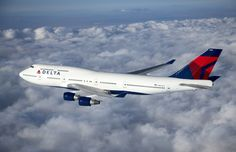 2015 May. A Delta 747-400. Like many other airlines, Delta is getting rid of four of these graceful, gas guzzling old birds.