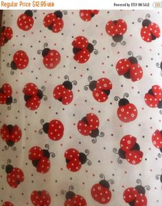NEW YEAR SALE Cotton Fabric,Home Decor, Quilt,Ladybugs by Timeless Treasures~Fun C3616~ Fast Shipping N208