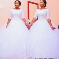 Gorgeous Twins Got Married The Same Day    African Canadian Weddings    Jimmy Photography   African Canadian Weddings Bridal Beauty, Wedding Beauty, Wedding Dress Styles, Wedding Gowns, African Dress, Bride Dresses, Mermaid Wedding, Got Married, Irene
