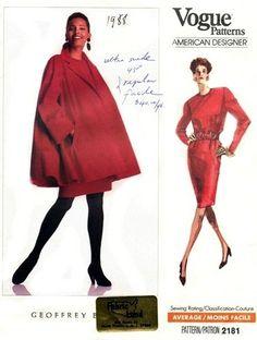 Vogue 2181 Superb Swingtime Coat & Dress 1988