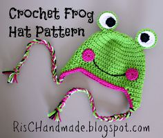 RisC Handmade: Crochet Frog Hat Pattern ok, it's for Rhonda, but I don't have a board for that!