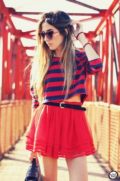 Look Du Jour: Baby You're No Good For Me  #Sweaters #Skirts #Totes