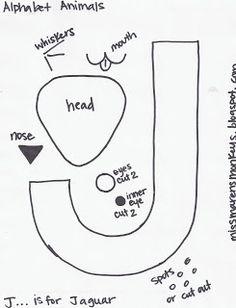 Miss Maren's Monkeys Preschool: Search results for Jaguar template Abc Crafts, Alphabet Crafts, Letter A Crafts, Alphabet Letters, Letter Art, Alphabet Phonics, Animal Letters, Letter Games, Alphabet Book