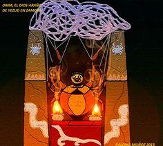 Omm. el dios-araña de Yezud. Se le ofrecen sacrificios humanos. Omm the spider-god of Yezud in the Kingdom of Zamora. Devourer of human sacrifices