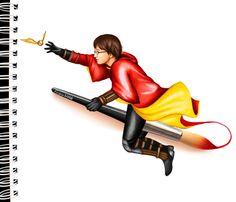 Harry Potter (by Kristina Webb Art Pencil Drawings Of Girls, Pencil Drawing Tutorials, Cool Art Drawings, Art Drawings Sketches, Girl Drawings, Art Illustrations, Painting Tutorials, Fashion Illustrations, Kristina Webb Drawings