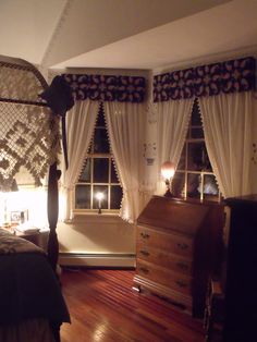 Made The Cornices, Curtains Are From Country Curtains, I Stenciled Using  The Moses Eaton