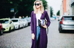 Purple is fashion!! Shop from simone Cuntz luxuryknit