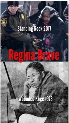 Regina Brave (b. - Wounded Knee Rock Regina Brave, a survivor of Wounded Knee II in was released in February of 2017 after being arrested for standing up for treaty rights against police who raided Oceti Sakowin. Native American Wisdom, Native American Pictures, Native American Women, Native American History, Native American Indians, Native Indian, American Symbols, Indian Tribes, American Art
