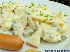 Kartoffelsalat mit Apfel und Gurke - #Rezept