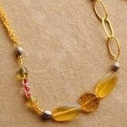 Lollipops Collection - Lemon Drop Necklace by abrajeweldabra on Etsy FREE SHIPPING. $27.95, via Etsy.