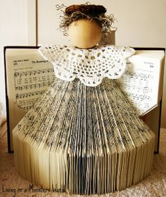 Music Sheet Christmas Angel. Reminds me of the angel I made for you when I was little.