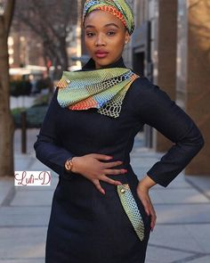 The Navy Denim Dress includes Head-Wrap Sizes: Whatsapp 0843032990 or Jhb Store: President & Troye StreetFashion District Shop 2 Jhb CBD.Pta store: Standard Bank Centre, 291 Helen Joseph Street (Van Der Walt str) next to Edgars African Fashion Ankara, African Inspired Fashion, Latest African Fashion Dresses, African Dresses For Women, African Print Dresses, African Print Fashion, Africa Fashion, African Attire, African Wear