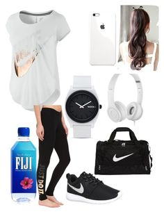 """""""work"""" by diamondsanders885 ❤ liked on Polyvore featuring NIKE, Nixon, Beats by Dr. Dre, women's clothing, women, female, woman, misses and juniors"""