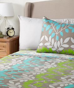 Love this Gray Floral Six-Piece Microfiber Sheet Set on #zulily! #zulilyfinds