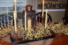 great idea to use old bobbins as candle holders...  picketsplace.blog