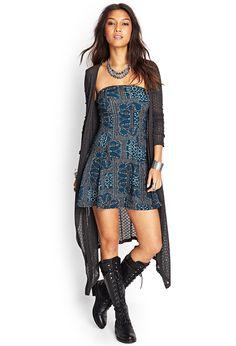 Longer of course) Strapless Paisley Dress | FOREVER21 #SummerForever #OOTD