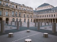 The Ultimate Parisian Guide To Paris: The Palais Royal | In the 17th century, the palace was the home of Cardinal Richelieu, the famed Machiavellian antagonist in The Three Musketeers. Today, it is one of the best examples of Paris' clever mix of history and contemporary. Since 1986, it is home to the Colonnes de Buren, a contemporary art installation by French artist Daniel Buren.