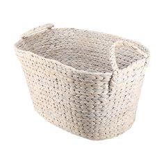 Laundry Basket - White Wash Finish | Kmart