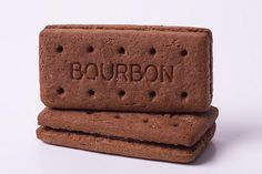 Bourbon Biscuit - Bite off the top bic., and scrape the cream with your teeth. Same applied to custard creams.