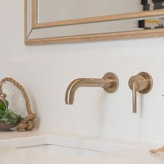 Wall Mount Tub Faucet, Wall Mounted Taps, Wall Taps, Rustic Bathroom Shower, Bathroom Faucets, Bathroom Hardware, Master Bathroom, Bathrooms, Copper Faucet