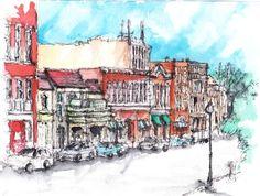 Downtown Athens, Ohio, 8x10