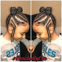 TOP 24 Bast African Braids for Little Black Girls - Trends 2018 Fulani style cor. <img> TOP 24 Bast African Braids for Little Black Girls – Trends 2018 Fulani style cornrows into ponies Kids Hairstyles - Black Hair Hairstyles, Little Girl Braid Hairstyles, Natural Hairstyles For Kids, Kids Braided Hairstyles, Box Braids Hairstyles, Hairstyle Ideas, Teenage Hairstyles, School Hairstyles, Natural Hair Styles Kids