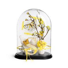 Glocke Glas mit Base (ohne Deko) klar ca H:40 cm