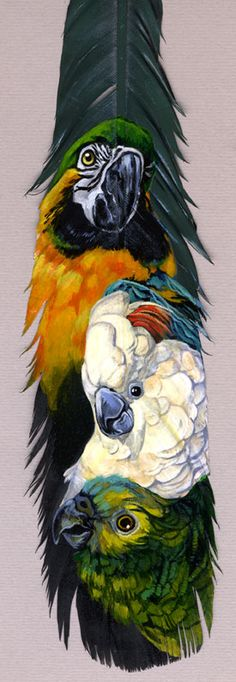 ☆ Featherpainting for Mom :¦: By Heather (Schumacher) Meuser ☆
