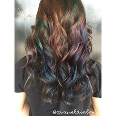 Oil slick hair @cassieldsalon                                                                                                                                                      More