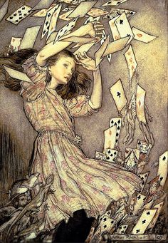 "Something quite interesting...Illustration from ""Alice in Wonderland"" by Arthur Rackham (19 September 1867 – 6 September 1939)"