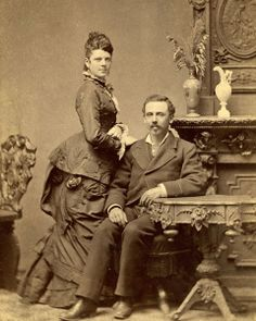 Dora and Henry Cohen sitting for a parlor portrait in Atlanta, Georgia.