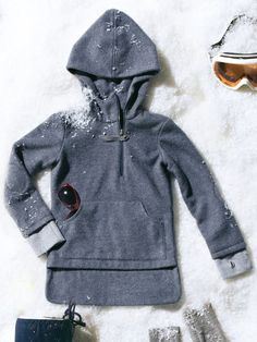 Great hoodie sweatshirt of either boys or girls Sizes 98-122 Love the tab over the zipper and the double layer.