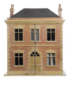 Stanhope House, a good painted wooden dolls house, English circa 1835