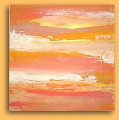SOLD Art Abstract Acrylic Painting Fine Art on Gallery by orabirenbaum, $245.00